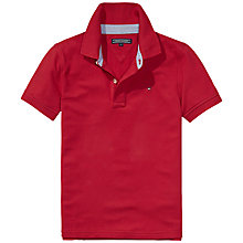 Buy Tommy Hilfiger Boys' Short Sleeve Polo, Red Online at johnlewis.com