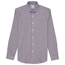 Buy Reiss Glover Slim Fit Check Shirt, Bordeux Online at johnlewis.com