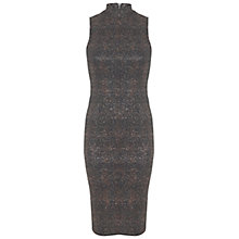 Buy Miss Selfridge Metallic Bodycon Dress, Black/Bronze Online at johnlewis.com