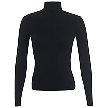 Buy Miss Selfridge Rib Roll Neck Jumper, Black Online at johnlewis.com