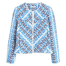 Buy Mango Embroidered Cotton Jacket, Bright Blue Online at johnlewis.com
