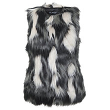 Buy Miss Selfridge Faux Fur Gilet, Multi Online at johnlewis.com