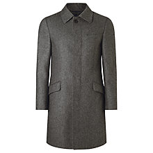 Buy John Lewis Italian Mouline Shirt Collar Tailored Coat, Grey Online at johnlewis.com