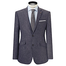 Buy John Lewis Wool Cashmere Herringbone Tailored Blazer, Grey Online at johnlewis.com