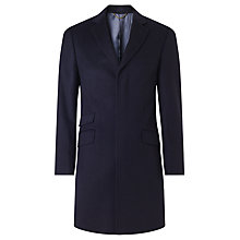 Buy John Lewis Wool Cashmere Tailored Fit Coat, Navy Online at johnlewis.com