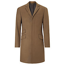 Buy John Lewis Pure Cashmere Epsom Overcoat, Camel Online at johnlewis.com