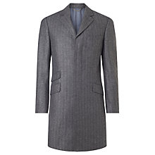Buy John Lewis Wool Cashmere Herringbone Tailored Overcoat, Grey Online at johnlewis.com