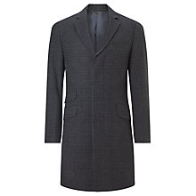 Buy John Lewis Tonal Check Epsom Tailored Overcoat, Charcoal Online at johnlewis.com