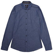 Buy BOSS Ridley Slim Fit Chambray Shirt, Light Blue Online at johnlewis.com