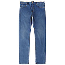 Buy BOSS Maine 2 Straight Jeans, Bright Blue Online at johnlewis.com