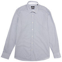 Buy BOSS Lukas Regular Fit Circle Print Shirt, White/Dark Blue Online at johnlewis.com