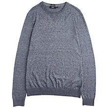 Buy BOSS Edion Cotton Melange Sweatshirt, Dark Blue Online at johnlewis.com