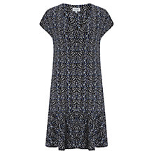 Buy Jigsaw Textured Dress, Blue Online at johnlewis.com
