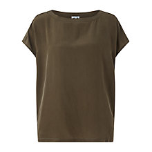 Buy Jigsaw Silk Front Slouchy Top Online at johnlewis.com