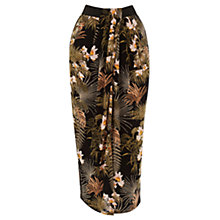 Buy Warehouse Tropical Palm Wrap Skirt, Multi Online at johnlewis.com