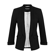 Buy Miss Selfridge Ponte Jacket, Black Online at johnlewis.com