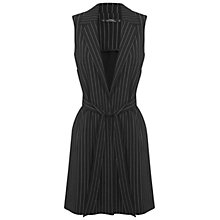 Buy Miss Selfridge Petite Stripe Duster Jacket, Black Online at johnlewis.com