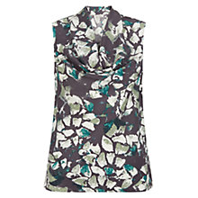 Buy Hobbs Ava Silk Cowl Neck Top, Cameo Green Online at johnlewis.com