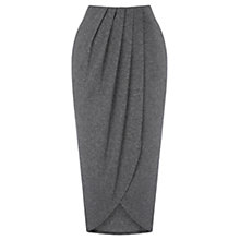Buy Warehouse Wrap Detail Midi Skirt, Dark Grey Online at johnlewis.com