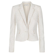 Buy Hobbs Abbey Jacket, Ivory Nude Online at johnlewis.com