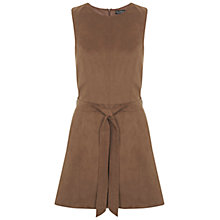 Buy Miss Selfridge Suedette Tunic Dress, Tan Online at johnlewis.com