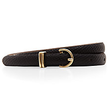 Buy Hobbs Marlow Belt, Black Online at johnlewis.com