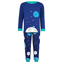 Buy John Lewis Man on the Moon Unisex Pyjama Set, Navy Online at johnlewis.com