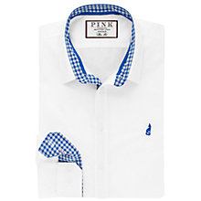 Buy Thomas Pink Raeburn Plain Slim Fit Shirt, White/Blue Online at johnlewis.com