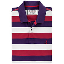 Buy Thomas Pink Thomas Stripe Polo Shirt, Purple/Grey Online at johnlewis.com