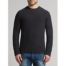 Buy BOSS Orange Acesto Lambswool Jumper, Charcoal Online at johnlewis.com