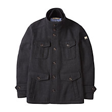 Buy BOSS Orange C-Orfeys Wool Pea Coat, Black Online at johnlewis.com