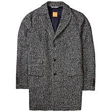 Buy BOSS Orange Barrets Salt And Pepper Coat, Black Online at johnlewis.com