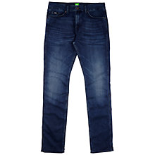 Buy BOSS Green C-Delaware Slim Fit Jeans, Mid Blue Wash Online at johnlewis.com