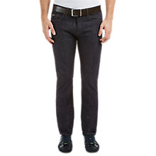 Buy BOSS Green C-Delaware Slim Fit Resin Finish Jeans, Navy Online at johnlewis.com