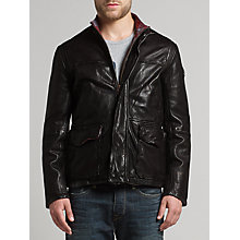 Buy BOSS Orange Jerian Sheepskin Leather Jacket Online at johnlewis.com
