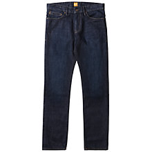 Buy BOSS Orange Orange25 PURE Regular Fit Jeans, Navy Online at johnlewis.com