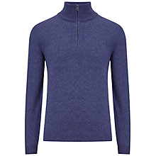 Buy BOSS Green C-Ceno Lambswool Zip Neck Jumper Online at johnlewis.com
