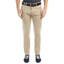 Buy BOSS Orange Schino-Slim 1-D Stretch Stretch Trousers, Light Pastel Brown Online at johnlewis.com