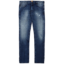 Buy BOSS Orange Orange71 Slim Fit Jeans, Medium Blue Online at johnlewis.com