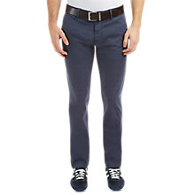 Buy BOSS Orange Schino-Slim 1-D Slim Fit Chinos, Dark Blue Online at johnlewis.com