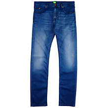 Buy BOSS Green C-Maine Straight Jeans, Bright Blue Online at johnlewis.com