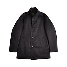 Buy BOSS Green Coxtan Wool Insert Coat, Charcoal Online at johnlewis.com