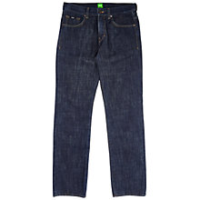 Buy BOSS Green C-Kansas Straight Jeans, Navy Online at johnlewis.com