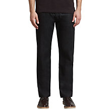 Buy BOSS Orange Straight Leg Jeans, Black Online at johnlewis.com