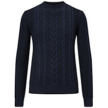 Buy BOSS Orange Kaas Cable Knit Crew Jumper Online at johnlewis.com