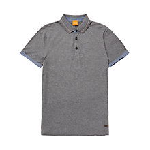 Buy BOSS Orange Patcherman 2 Cotton Polo Shirt, Light Pastel Grey Online at johnlewis.com