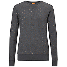 Buy BOSS Orange Wyott Dot Jersey Top, Charcoal Online at johnlewis.com