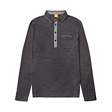 Buy BOSS Orange Patcherman 2 Long Sleeve Polo Shirt, Oxford Blue Online at johnlewis.com