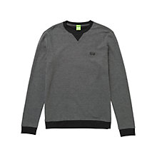 Buy BOSS Green C-Barrea Cotton Sweatshirt Online at johnlewis.com
