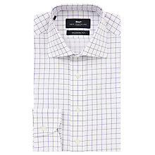 Buy Paul Costelloe Windowpane Modern Fit Shirt, White/Lilac Online at johnlewis.com
